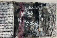 Rhonda Nolan, Triptych Window Installation (2020).