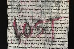 Rhonda Nolan, Lost (2020). Mixed media on unstretched canvas.